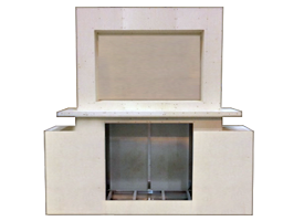 Graysen Woods, Outdoor Fireplace Enclosures, Body Blocks, Custom Enclosure with Entertainment Cabinet