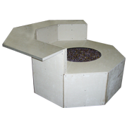 Graysen Woods, Fire Pit, Body Blocks, Standard Series, Octagon Fire Pit with Dining Ledge
