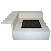 Graysen Woods, Fire Pit, Body Blocks, Standard Series, Square Fire Pit with Dining Ledge